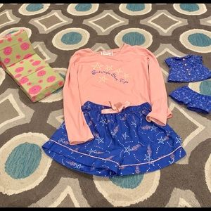 American Girl matching pjs and lounge chair